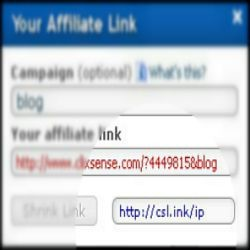 Shrink Your Affiliate Url With Clixsense's Awesome New Feature 2