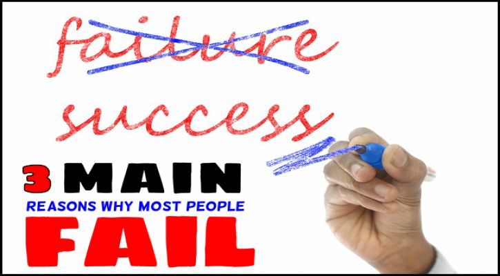 the 3 main reasons why most people fail to earn money online