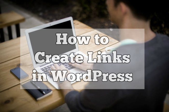 How to create links in wordpress