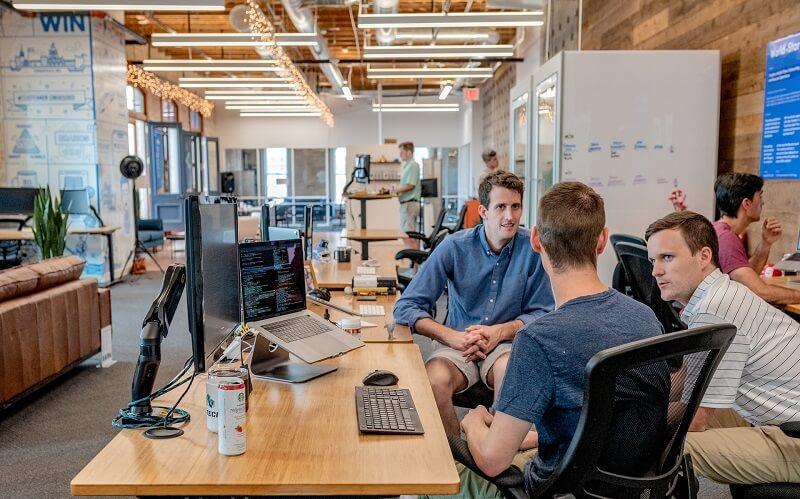Coworkers in a digital agency